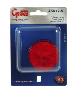 45812-5 – 2 1/2″ Clearance Marker Light, Optic Lens, Red, Retail Pack