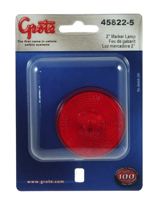 45822-5 – 2″ Clearance Marker Light, Red, Retail Pack