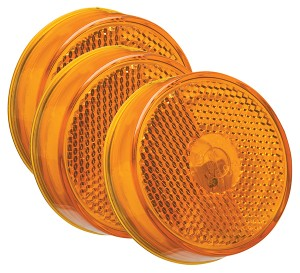 45833-3 – 2 1/2″ Clearance Marker Lights, Built-In Reflector, Yellow, Bulk Pack