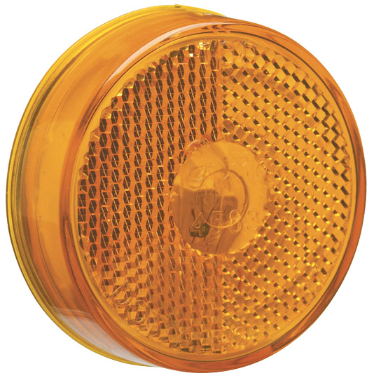 45833 – 2 1/2″ Clearance Marker Light, Built-In Reflector, Yellow, 12V
