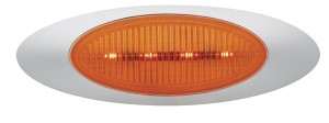 45853 – M4 Series LED Clearance Marker Light, .180 Molded Bullet w/ Bezel, Yellow