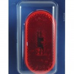two bulb oval pigtail type clearance marker light reflector red retail