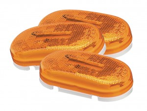 45933-3 – Two-Bulb Oval Pigtail-Type Clearance Marker Light, Built-in Reflector, Yellow, Bulk Pack
