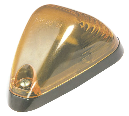 Grote Industries - 46003 – Low-Profile Aerodynamic Cab Marker Light, PC/P2 Rated 12V, Yellow