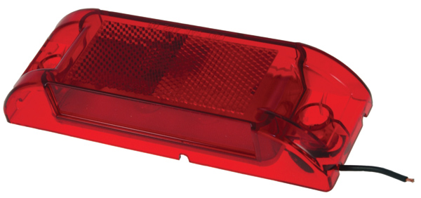 Grote Industries - 46082 – Economy Sealed Clearance Marker Light, Red Kit (46072 + 66360)