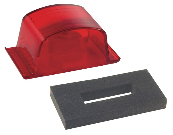 Grote Industries - 46092 – Small Square PC-Rated Clearance Marker Light, Red