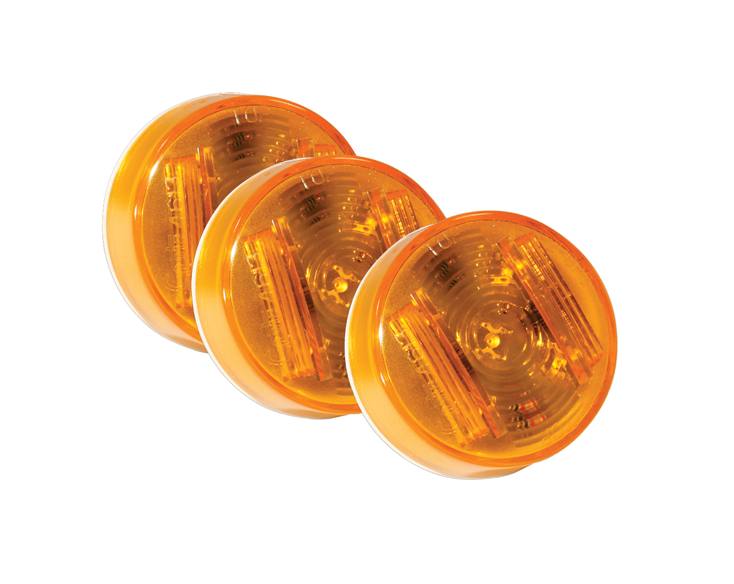 Grote Industries - 46133-3 – SuperNova® 2″ Clearance Marker LED Light, PC Rated, Yellow, Bulk Pack