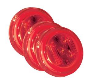46142-3 – SuperNova® 2 1/2″ Clearance Marker LED Light, PC Rated, Red, Bulk Pack
