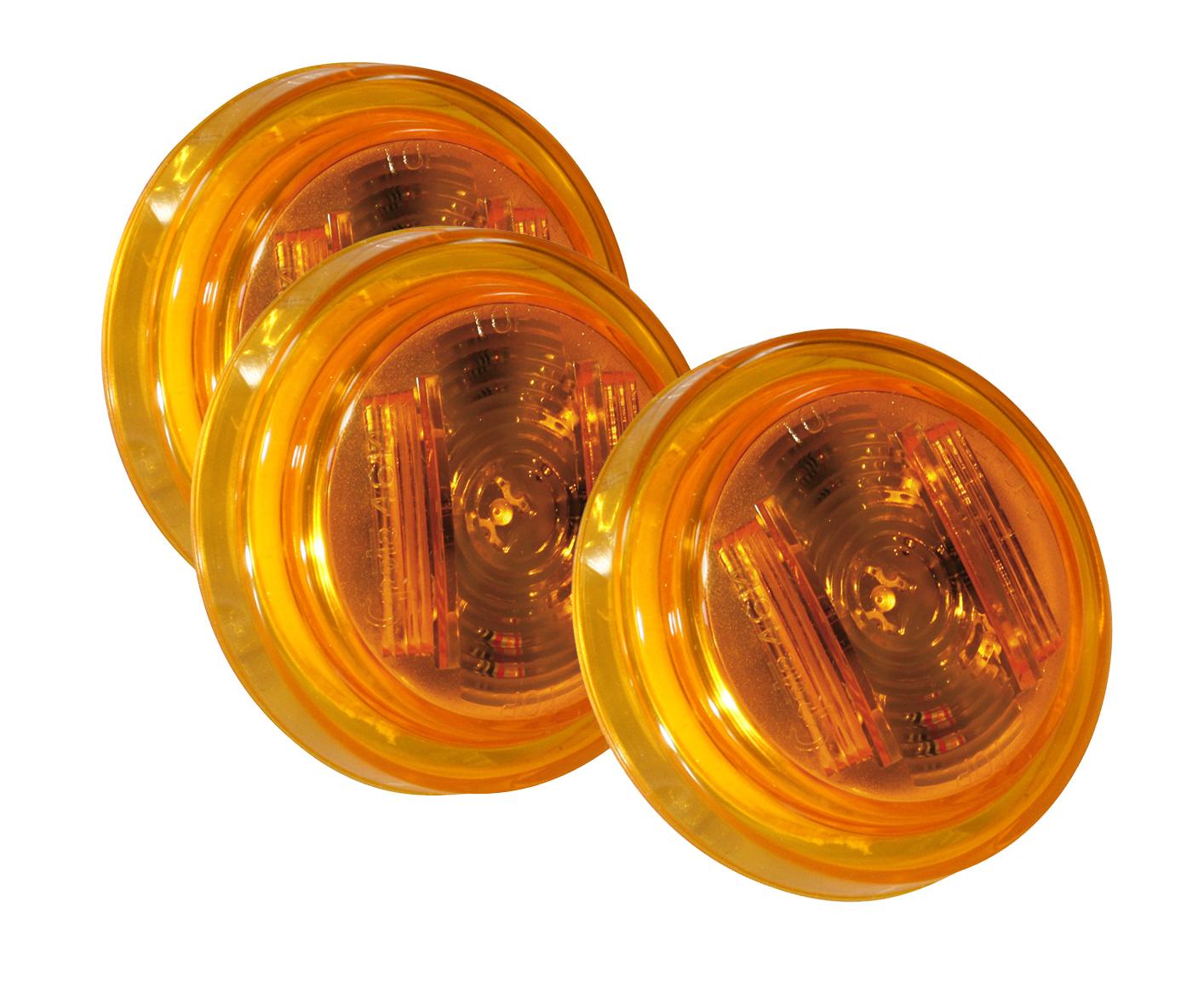 46143-3 – SuperNova® 2 1/2″ Clearance Marker LED Light, PC Rated, Yellow, Bulk Pack