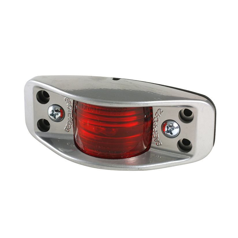 Grote Industries - 46282 – Die-Cast, Aluminum Clearance Marker Light, Flat Back, Red