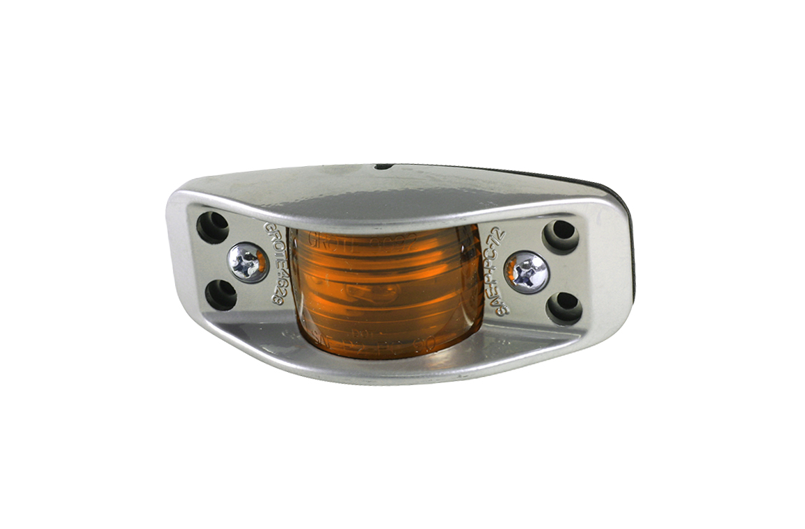 46283 – Die-Cast, Aluminum Clearance Marker Light, Flat Back, Yellow