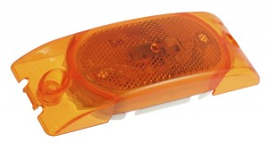 46303 – Two-Bulb Turtleback® Clearance Marker Light, Built-in Reflector, Yellow