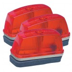 school bus rectangular marker light red bulk