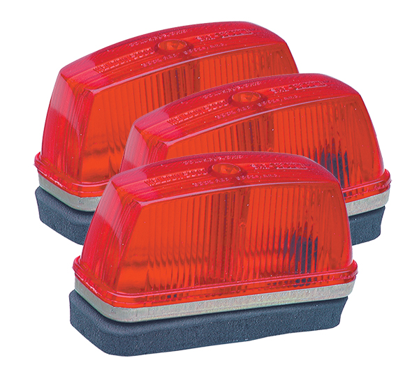 46332-3 – School Bus Rectangular Marker Light, Red, Bulk Pack