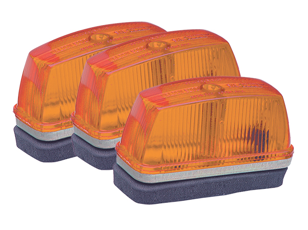 Grote Industries - 46333-3 – School Bus Rectangular Marker Light, Yellow, Bulk Pack
