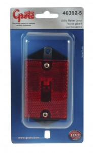 Rectangular Single-Bulb Clearance Marker Lights with Built-In Reflector