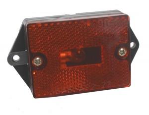 Lámparas de gálibo/marcadoras rectangulares, con un foco, con reflector incorporado
