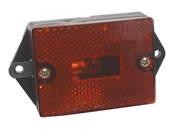 46392 – Rectangular Single-Bulb Clearance Marker Light with Built-In Reflector, Red