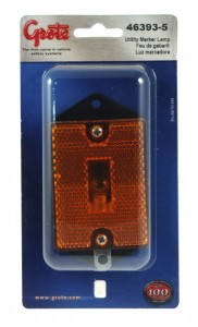 46393-5 – Rectangular Single-Bulb Clearance Marker Light with Built-In Reflector, Yellow, Retail Pack