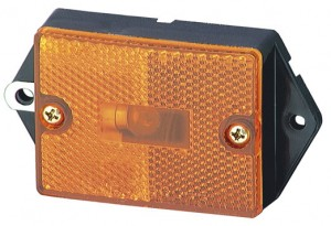 46393 – Rectangular Single-Bulb Clearance Marker Light with Built-In Reflector, Yellow