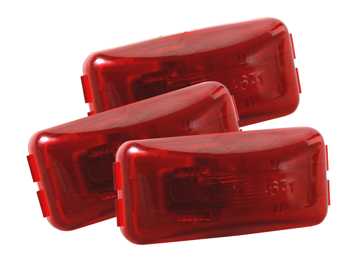 46412-3 – 3″ Clearance Marker Lights, 12V, Red, Bulk Pack