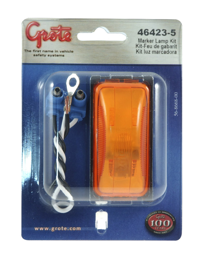 46423-5 – 3″ Clearance Marker Light, Yellow Kit (43980 + 67050)