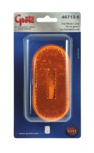 46713-5 – Single-Bulb Oval Clearance Marker Light, Built-in Reflector, Yellow, Retail Pack