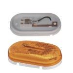 single bulb oval clearance marker light reflector yellow