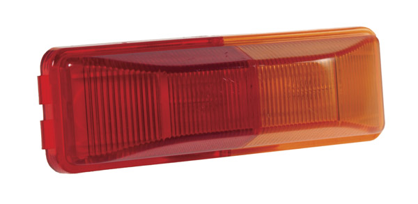 Grote Industries - 46740 – Clearance Marker Light, Split Lens, Red/Yellow