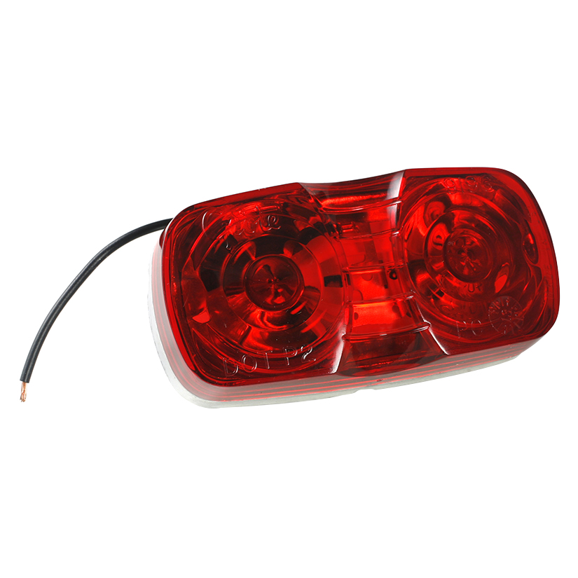 46782 – Two-Bulb Square-Corner Clearance Marker Light, Die-Cast, Red