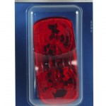 two bulb square corner clearance marker light retail red duramold