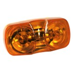 two bulb square corner clearance marker light yellow duramold