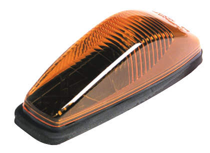 Grote Industries - 46813 – Small Aerodynamic Cab Marker Light, w/out Chrome Bezel, Yellow