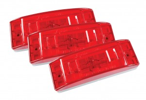 46832-3 – Sealed Turtleback® II Clearance Marker Light, Optic Lens, Red, Bulk Pack
