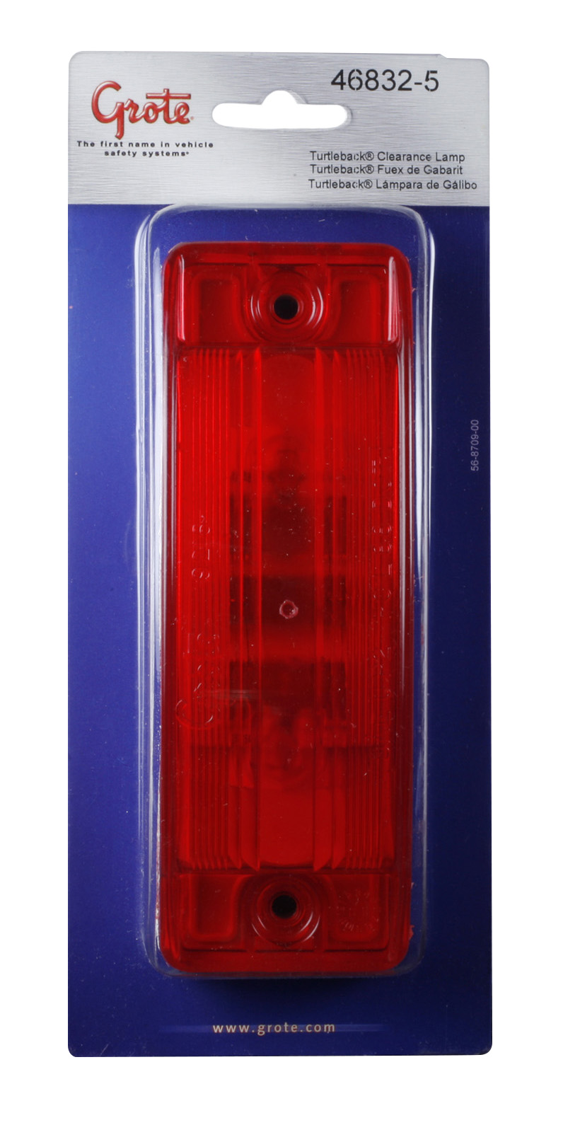 46832-5 – Sealed Turtleback® II Clearance/Marker Lamp, Optic Lens, Red, Retail Pack