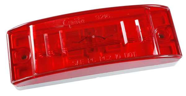 46832 – Sealed Turtleback® II Clearance Marker Light, Optic Lens, Red