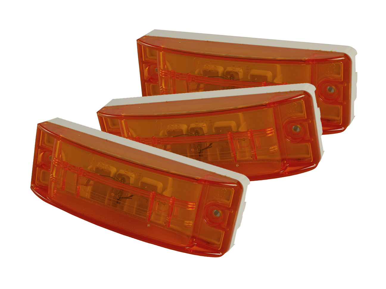 Grote Industries - 46833-3 – Sealed Turtleback® II Clearance Marker Light, Optic Lens, Yellow, Bulk Pack