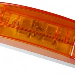 Sealed Turtleback® II Clearance/Marker Lamp, Optic Lens, Yellow