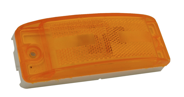 46863 – Field Resealable Lens Turtleback® II Clearance / Marker Lamp, Reflex Lens, Yellow
