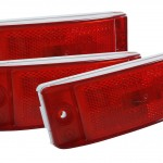 sealed turtleback ii clearance marker light reflector red bulk