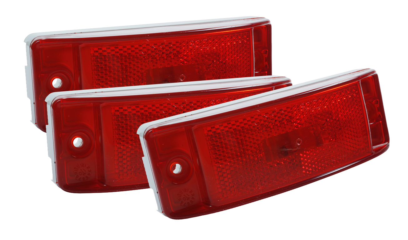 Grote Industries - 46872-3 – Sealed Turtleback® II Clearance Marker Light,  Built