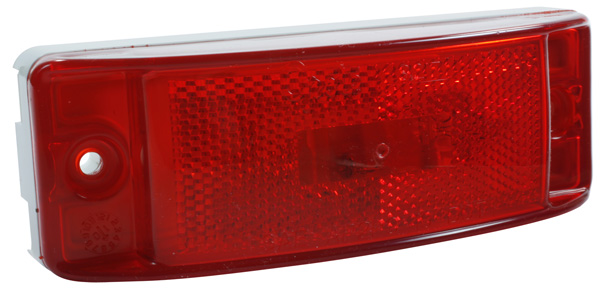 Grote Industries - 46872 – Sealed Turtleback® II Clearance Marker Light, Built-In Reflector, Red