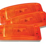 Sealed Turtleback® II Clearance/Marker Light reflector yellow bulk