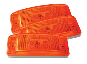 46873-3 – Sealed Turtleback® II Clearance Marker Light, Built-In Reflector, Yellow, Bulk Pack