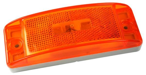 Grote Industries - 46873 – Sealed Turtleback® II Clearance Marker Light, Built-In Reflector, Yellow
