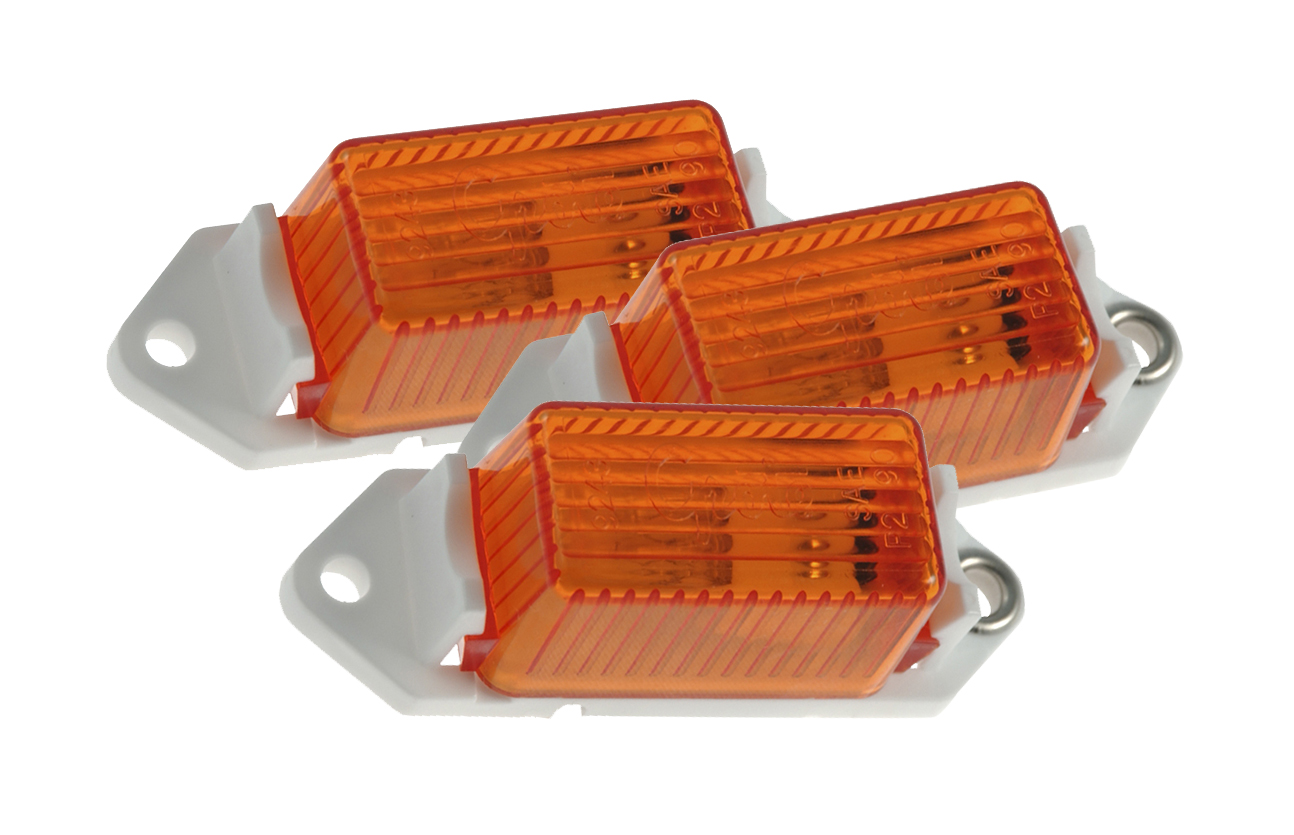 46883-3 – Economy Clearance Marker Lights, Yellow, Bulk Pack