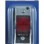 chrome armored clearance marker light red retail