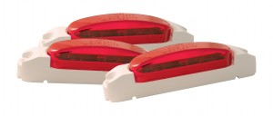 46902-3 – SuperNova® Thin-Line LED Clearance Marker Light, Red Lens, White Body, Bulk Pack