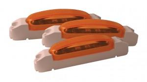 46903-3 – SuperNova® Thin-Line LED Clearance Marker Light, Yellow Lens, White Body, Bulk Pack