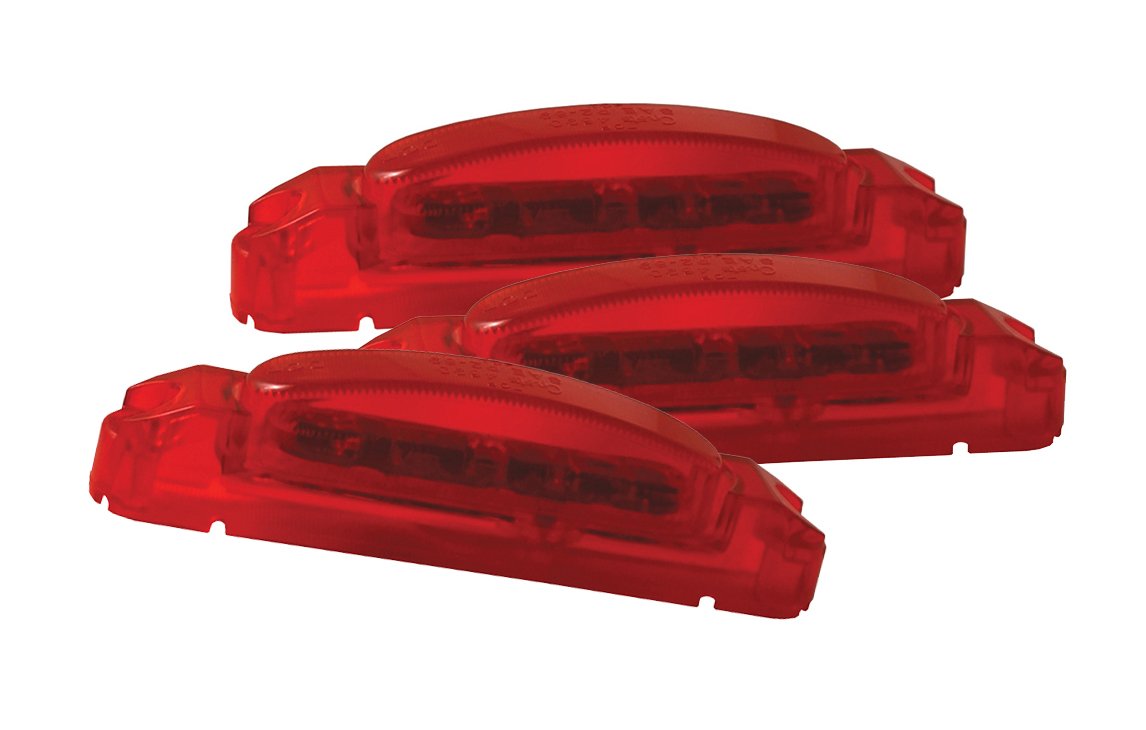 46922-3 – SuperNova® Thin-Line LED Clearance Marker Light, Red Lens, Red Body, Bulk Pack
